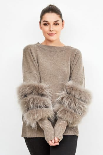 Dom Goor Fur-trim cashmere sweater