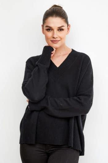 Dom Goor V-Neck cashmere sweater top