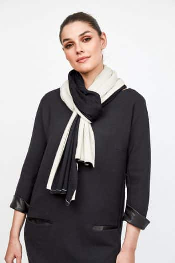 Monochrome Double-sided Annette Gortz wrap