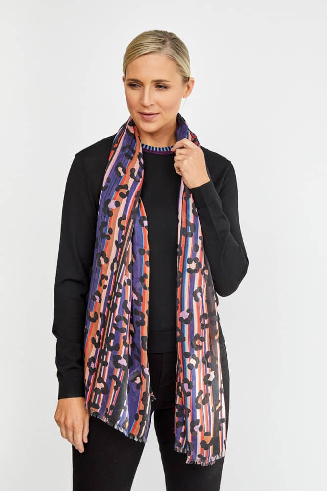 delicate silk leopard print scarf by paul smith