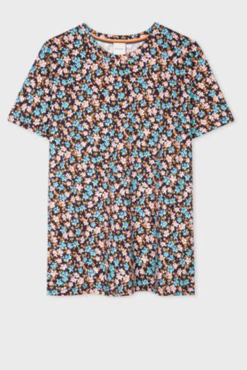 Women's 'Rizo Floral' Print Organic-Cotton T-Shirt